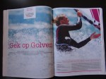 Gek op golfen (addicted to waves), article about woman, Surfmagazine